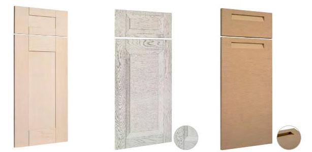 Muebles de cocina disenove elige el acabado de tus for Puertas de madera para cocina